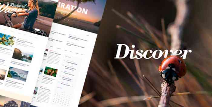 DISCOVER – TRAVEL & LIFESTYLE MULTICONCEPT BLOG THEME