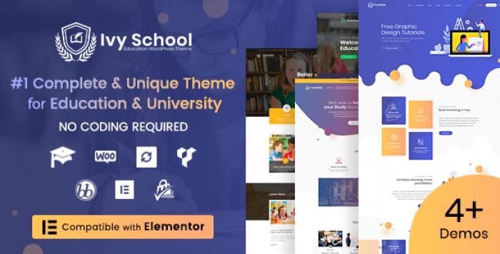 IVY SCHOOL V1.0.6 – EDUCATION, UNIVERSITY & SCHOOL THEME