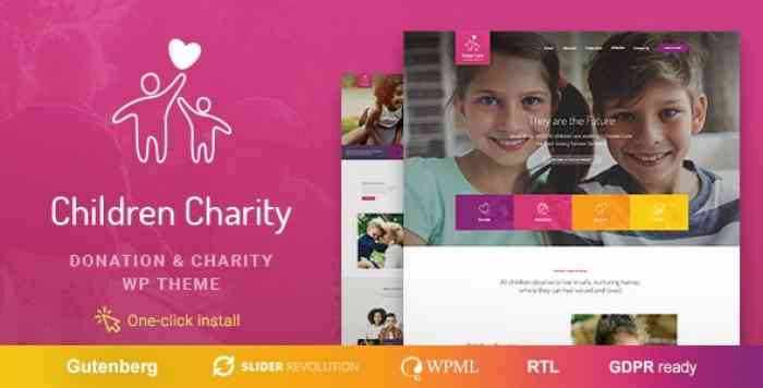 CHILDREN CHARITY V1.0.8 – NONPROFIT & NGO WORDPRESS THEME WITH DONATIONS