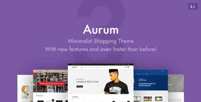 AURUM V3.1 – MINIMALIST SHOPPING THEME