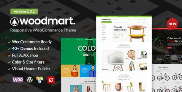 WOODMART V2.8.1 – RESPONSIVE WOOCOMMERCE WORDPRESS THEME