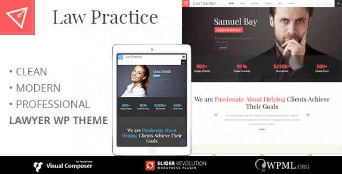 LAW PRACTICE V3.5 – LAWYER RESPONSIVE BUSINESS THEME
