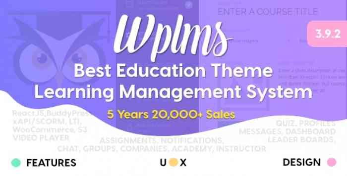 WPLMS V3.9.3 – LEARNING MANAGEMENT SYSTEM FOR WORDPRESS