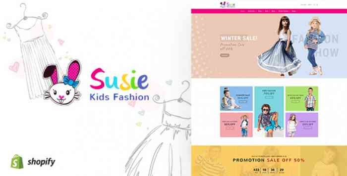 SUSIE V1.1 – KIDS FASHION SECTIONED SHOPIFY THEME
