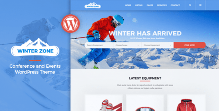 WINTERZONE V1.1.1 – SKI & WINTER SPORTS WORDPRESS THEME