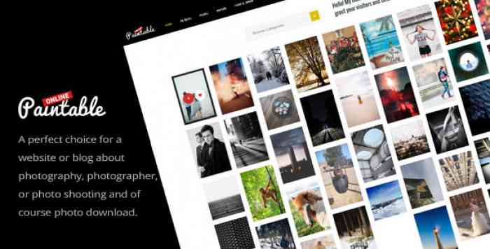 PAINTABLE V1.4 – PHOTOGRAPHY AND BLOG / PHOTOS DOWNLOAD THEME