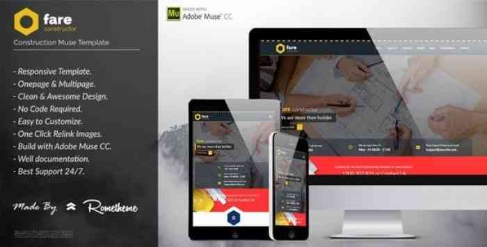 FARE – CONSTRUCTION MUSE TEMPLATE