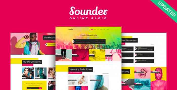 SOUNDER V1.0.1 – ONLINE RADIO WORDPRESS THEME