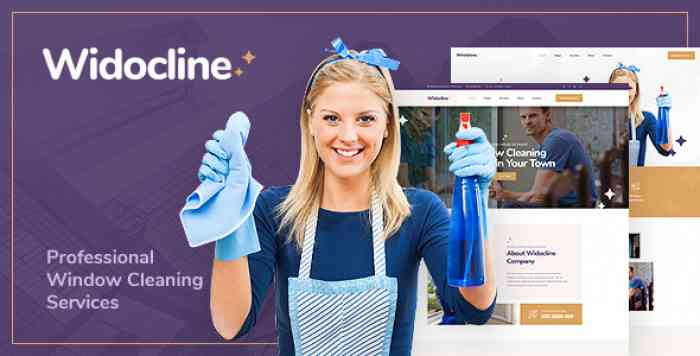 WIDOCLINE – PROFESSIONAL WINDOW CLEANING SERVICES PSD TEMPLATE