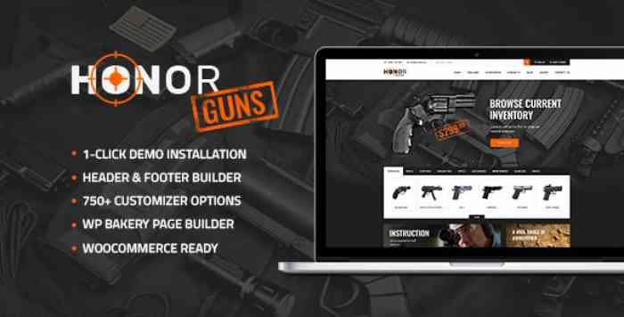 HONOR V1.0 – SHOOTING CLUB & WEAPON STORE WORDPRESS THEME