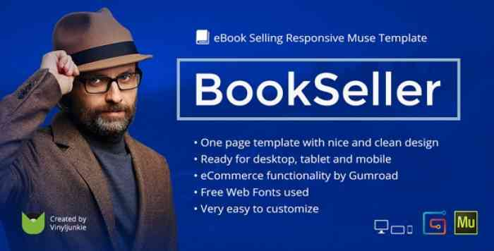 BOOKSELLER V2.0 – EBOOK SELLING RESPONSIVE MUSE TEMPLATE