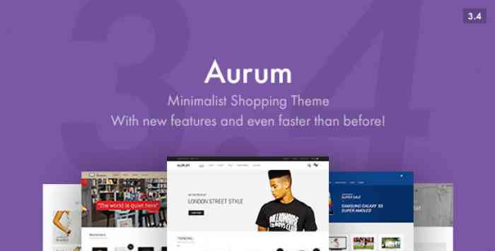 AURUM V3.4.6.1 – MINIMALIST SHOPPING THEME