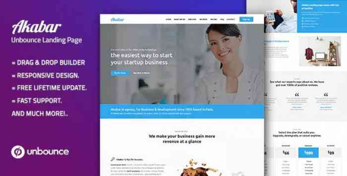 AKABAR – MULTI-PURPOSE TEMPLATE WITH UNBOUNCE PAGE BUILDER