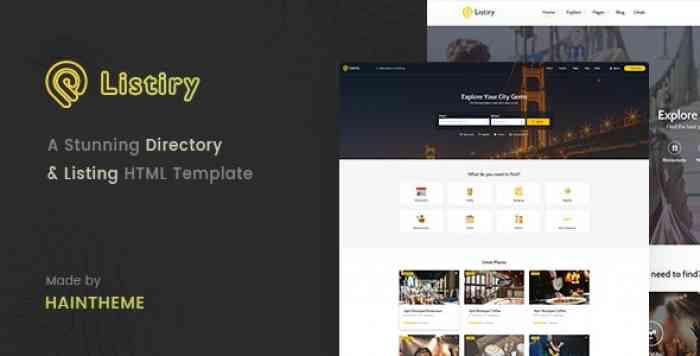 LISTIRY V1.0 – DIRECTORY & LISTING TEMPLATE