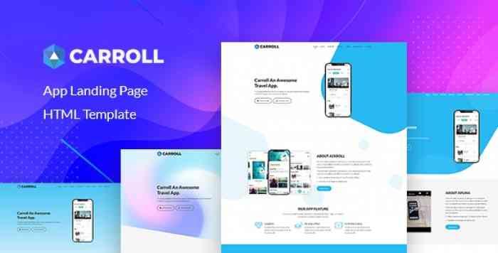 CARROLL V1.0 – APP LANDING PAGE HTML TEMPLATE
