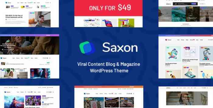 SAXON V1.3.5 – VIRAL CONTENT BLOG & MAGAZINE THEME