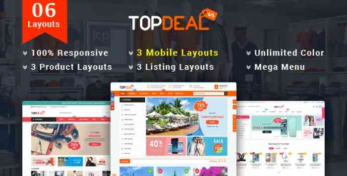 TOPDEAL V1.1.0 – RESPONSIVE MULTIPURPOSE HTML 5 TEMPLATE (MOBILE LAYOUTS INCLUDED)