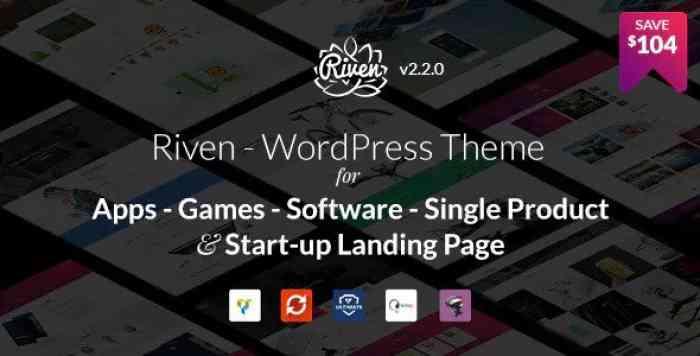 RIVEN V2.2.11 – WORDPRESS THEME FOR APP, GAME