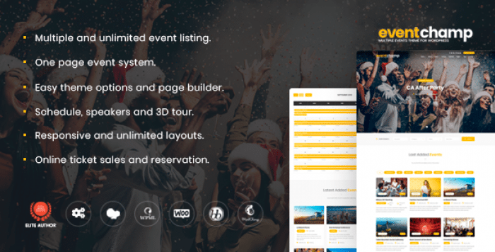 EVENT CHAMP V1.7.4 – MULTIPLE EVENTS & CONFERENCE WORDPRESS THEME