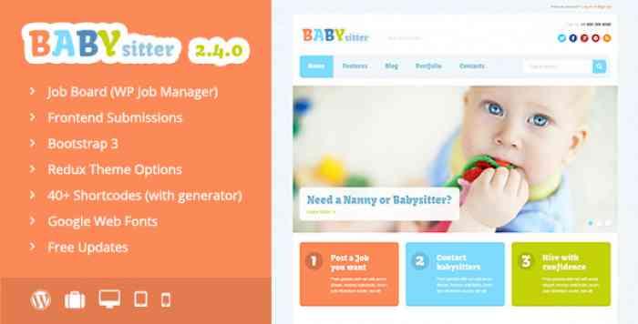 BABYSITTER V2.4.0 – JOB BOARD WORDPRESS THEME