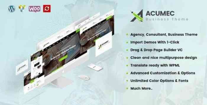 ACUMEC V1.3.1 – BUSINESS MULTIPURPOSE WORDPRESS THEME