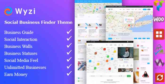 WYZI V2.2 – SOCIAL BUSINESS FINDER DIRECTORY THEME