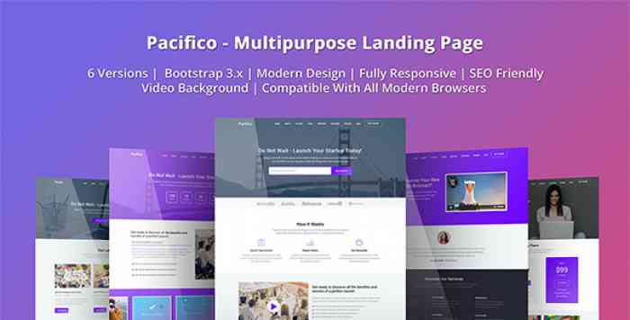 PACIFICO – MULTIPURPOSE HTML LANDING PAGE TEMPLATE