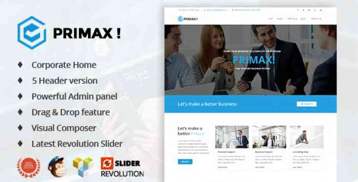 PRIMAX V1.2 – CORPORATE BUSINESS WORDPRESS THEME