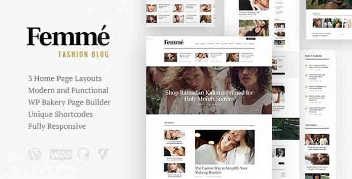 FEMME V1.1 – AN ONLINE MAGAZINE & FASHION BLOG THEME