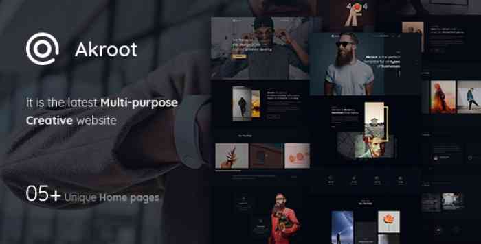 AKROOT – IT IS THE MULTI-PURPOSE CREATIVE PSD TEMPLATE