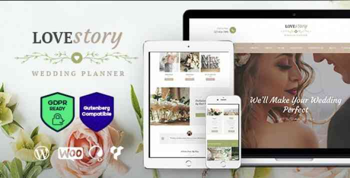 LOVE STORY V1.2 – A BEAUTIFUL WEDDING AND EVENT PLANNER WORDPRESS THEME
