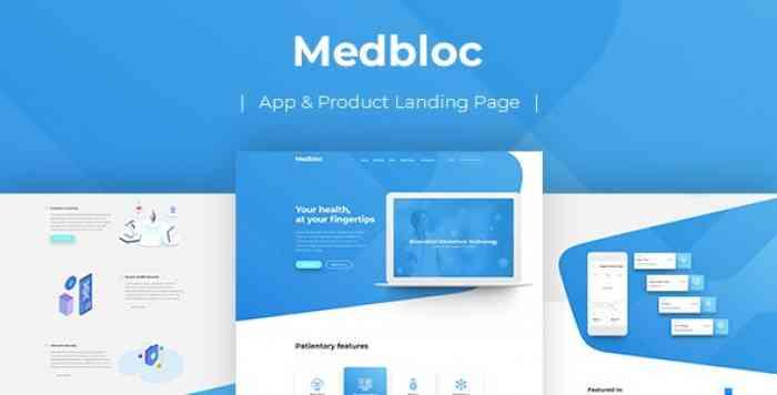 MEDBLOC – PSD LANDING PAGE