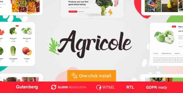 AGRICOLE V1.0.2 – ORGANIC FOOD & AGRICULTURE WORDPRESS THEME