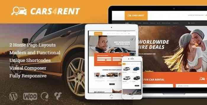 CARS4RENT V1.2.1 – CAR RENTAL & TAXI SERVICE THEME