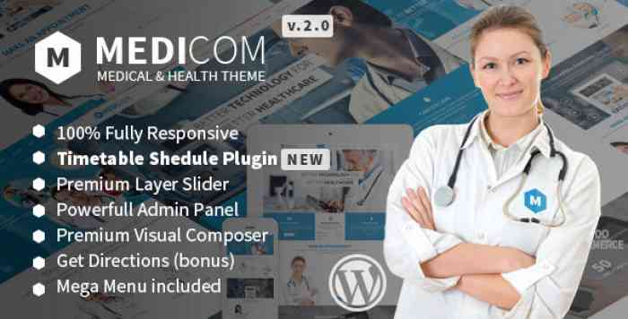 MEDICOM V3.0.4 – MEDICAL & HEALTH WORDPRESS THEME