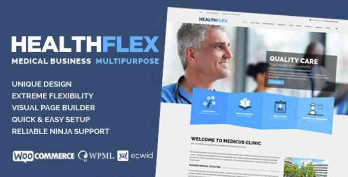 HEALTHFLEX V1.5.7 – MEDICAL HEALTH WORDPRESS THEME