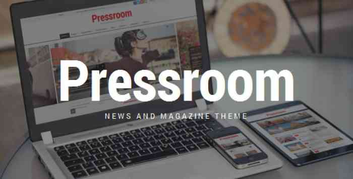 PRESSROOM V4.0 – NEWS AND MAGAZINE WORDPRESS THEME