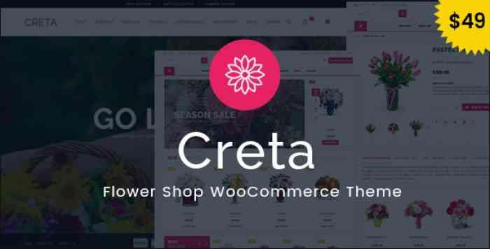 CRETA V3.6 – FLOWER SHOP WOOCOMMERCE WORDPRESS THEME