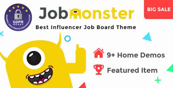 JOBMONSTER V4.5.2.0 – JOB BOARD WORDPRESS THEME
