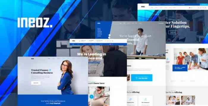 INEOZ – CONSULTING & FINANCE BUSINESS PSD TEMPLATE