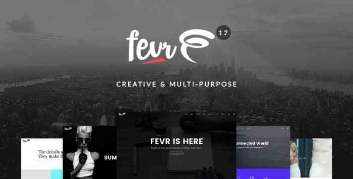 FEVR V1.2.9.7 – CREATIVE MULTIPURPOSE THEME