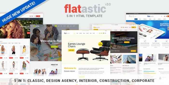 FLATASTIC V3.0 – PREMIUM VERSATILE HTML TEMPLATE