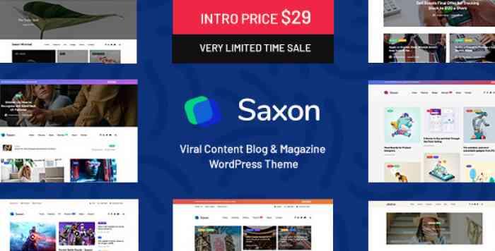 SAXON V1.3.1 – VIRAL CONTENT BLOG & MAGAZINE THEME