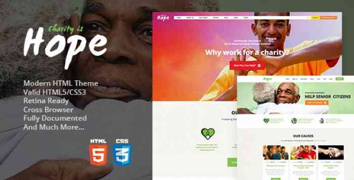 HOPE V1.2 – NON-PROFIT, CHARITY & DONATIONS SITE TEMPLATE