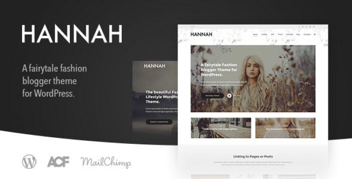 HANNAH CD V2.0 – LIFESTYLE & FASHION BLOG THEME FOR WORDPRESS
