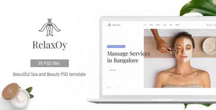 RELAXOY V1.0 – SPA & BEAUTY PSD TEMPLATE