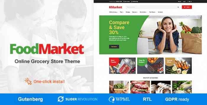 FOOD MARKET V1.0.8 – FOOD SHOP & GROCERY STORE WORDPRESS THEME