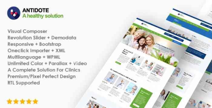 ANTIDOTE V1.1.1 – HEALTH & MEDICAL WORDPRESS THEME