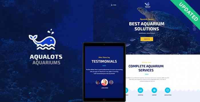 AQUALOTS V1.0 – AQUARIUM SERVICES WORDPRESS THEME