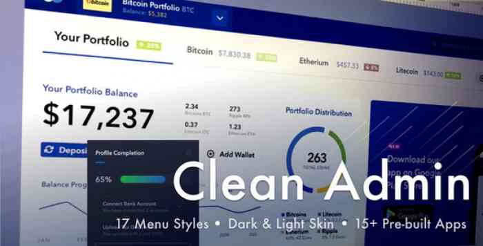 LIGHT ADMIN – CLEAN BOOTSTRAP 4 DASHBOARD HTML TEMPLATE WITH CRYPTO